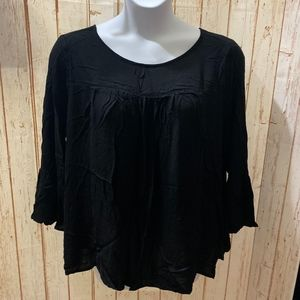 Old Navy Black Blouse With Bell Sleeves